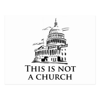this is not a church postcards