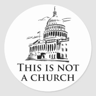 this is not a church round sticker