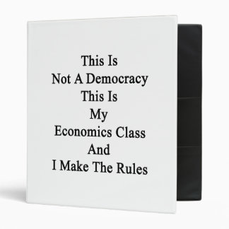 This Is Not A Democracy This Is My Economics Class Vinyl Binders