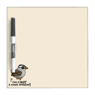 This is NOT a House Sparrow! Dry-Erase Board