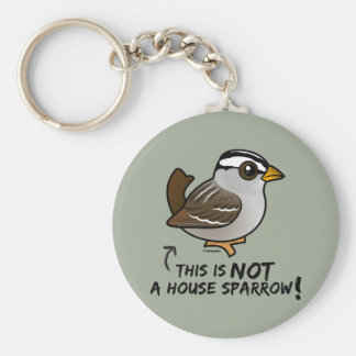 This is NOT a House Sparrow! Keychain