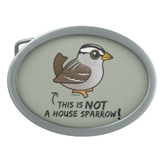 This is NOT a House Sparrow! Oval Belt Buckle