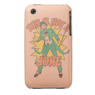 This Is Not A Joke iPhone 3 Cover