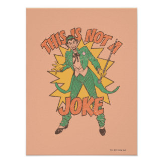 This Is Not A Joke Poster