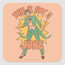 not a joke, batman, bat man, 1966 batman, 60's batman, batman action callout, action words, fighting sound effect words, punching sounds, adam west, burt ward, batman tv show, batman cartoon graphics, super hero, classic tv show, Sticker with custom graphic design