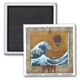 This is not a Painting 2 Inch Square Magnet