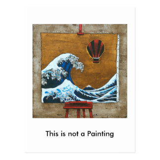 This is not a Painting Postcard