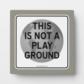 THIS IS NOT A PLAYGROUND PLAQUE