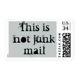 """This is not Junk Mail"" custom stamps"