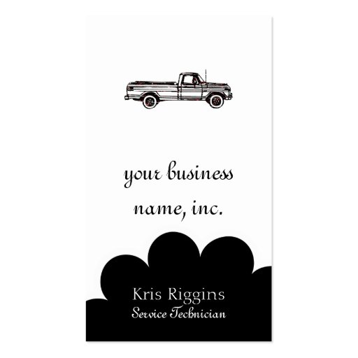 This Is Not My Pickup Double-Sided Standard Business Cards (Pack Of 100)