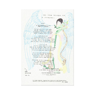 This is one of many poems I have written . Canvas Print
