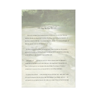 This is one of many poems I have written. Canvas Print