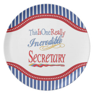 This Is One Really Incredible Secretary Gift Melamine Plate