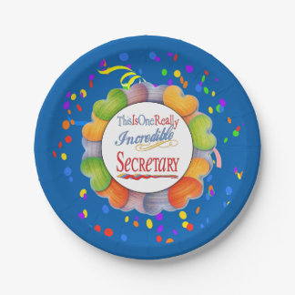 This Is One Really Incredible Secretary Gift Paper Plate