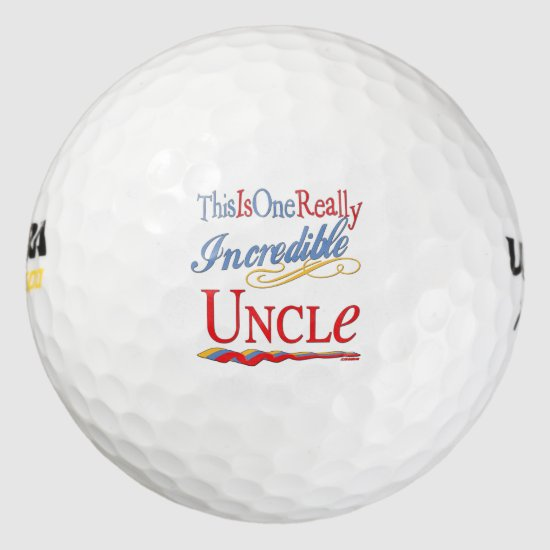This Is One Really Incredible Uncle Gift Golf Balls