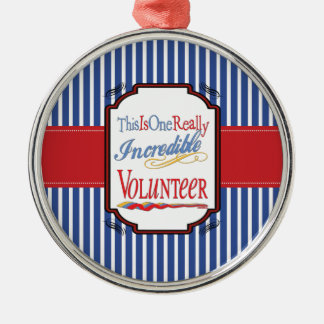 This Is One Really Incredible Volunteer Gift Metal Ornament