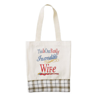 This Is One Really Incredible Wife Gift Series Zazzle HEART Tote Bag