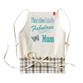 This Is One Totally Fabulous Mum Zazzle HEART Apron