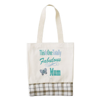 This Is One Totally Fabulous Mum Zazzle HEART Tote Bag