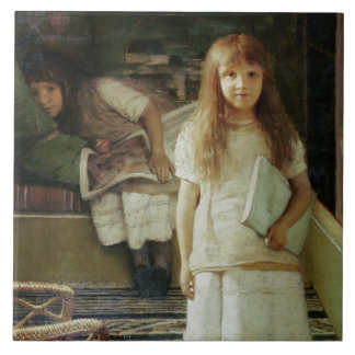 This is our Corner, 1873 (oil on panel) Ceramic Tile