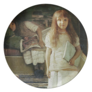This is our Corner, 1873 (oil on panel) Melamine Plate