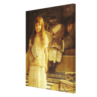 This is Our Corner by Sir Lawrence Alma Tadema Canvas Print