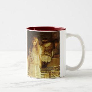 This is Our Corner by Sir Lawrence Alma Tadema Two-Tone Coffee Mug