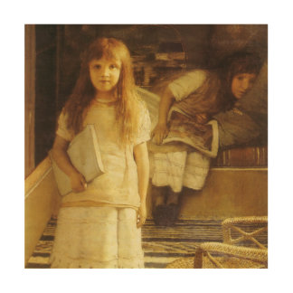 This is Our Corner by Sir Lawrence Alma Tadema Wood Wall Art