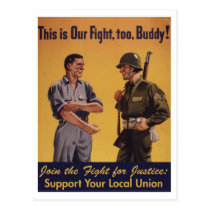 This Is Our Fight, Too! Pro-Union Postcard