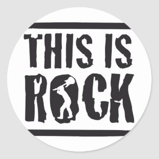 this is rock classic round sticker