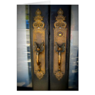 This is San José CA: Brass Handles Greeting Card