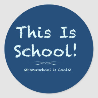 This is School Classic Round Sticker