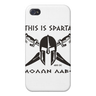 This is Sparta - Molon Lave - Black Case For iPhone 4