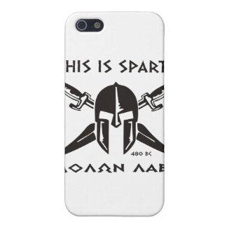 This is Sparta - Molon Lave - Black iPhone SE/5/5s Case
