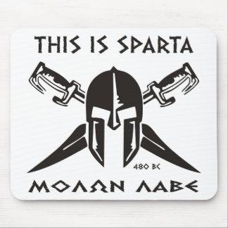 This is Sparta - Molon lave (black) Mouse Pad