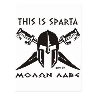 This is Sparta - Molon lave (black) Postcard