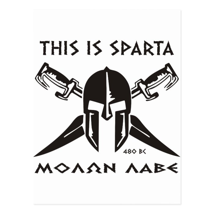 This is Sparta - Molon lave (black) Postcard