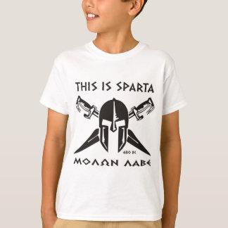 This is Sparta - Molon lave (black) T-Shirt