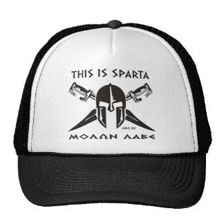 This is Sparta - Molon lave (black) Trucker Hat