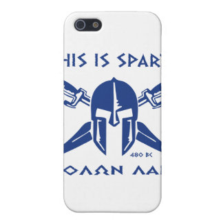 This is Sparta - Molon Lave - Blue Cover For iPhone SE/5/5s