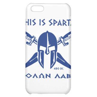 This is Sparta - Molon Lave - Blue iPhone 5C Case