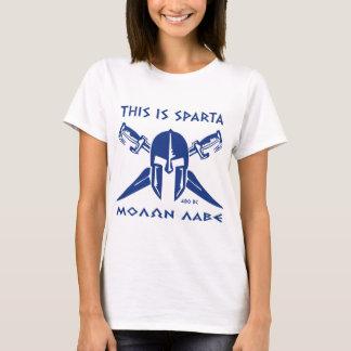 This is Sparta - Molon Lave - Blue T-Shirt