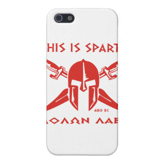 This is Sparta - Molon Lave - Red iPhone SE/5/5s Cover