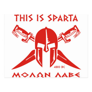 This is Sparta - Molon Lave - Red Postcard