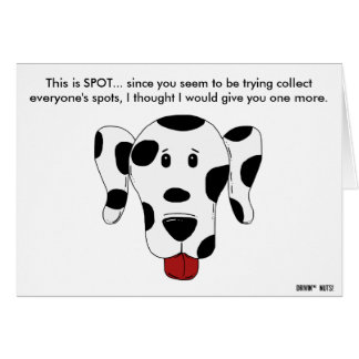 This Is Spot - Dog Print - Taking Up Parking Spots Card