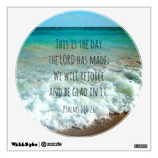 This is the Day Christian Bible Beach Watercolor Wall Sticker