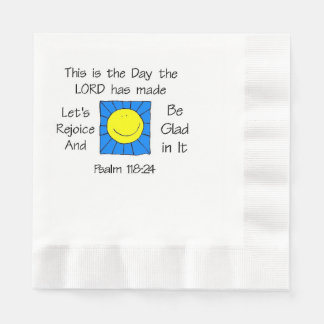 This is the Day Sun Paper Napkin