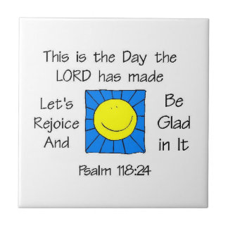 This is the Day - Sun Small Square Tile