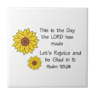This is the Day Sunflower Small Square Tile