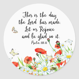 This is the Day the Lord has Made Classic Round Sticker